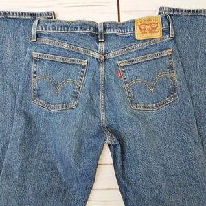 Levis High waist button fly vintage 90s taper leg